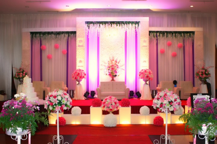 Elegant pink decoration wedding